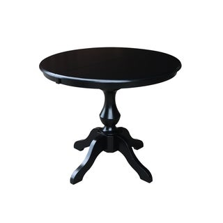 Top Product Reviews for Black Wood 36-inch Round Dining Table with ... 8171243e0