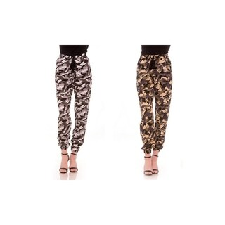 Ladies Camouflage Joggers with Drawstring Waist (More options available)