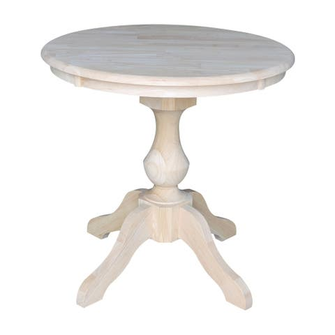 """30"""" Round Top Pedestal Dining Table - Unfinished"""