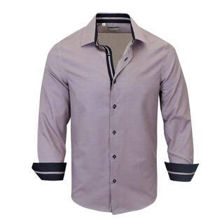 Multi Colors Pattern With Solid Contrast Modern-Fit Shirt