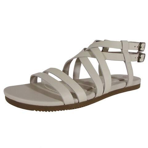 1c42b0334 Teva Womens Avalina Crossover Leather Flat Sandal Shoes
