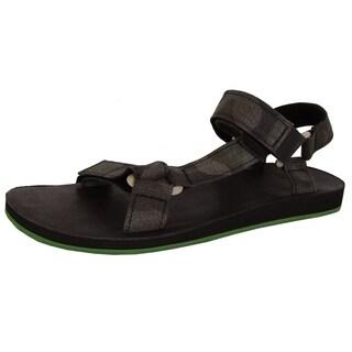 Teva Mens Original Universal Brushed Canvas Camo Sandal Shoes, Black