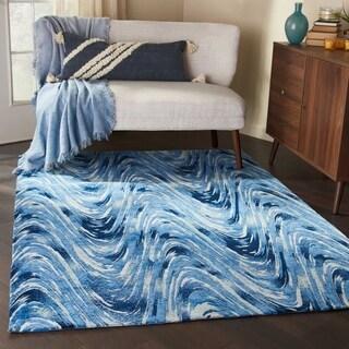 Studio NYC Design Current Ocean Blue Area Rug - 8' x10'