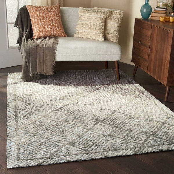 Shop Studio Nyc Design Tide Fossil Beige Area Rug 5 X 7