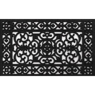 Aspen Black Rubber Doormat