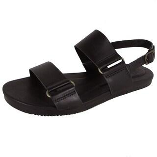 Shop Teva Womens Avalina Flat Leather Backstrap Sandal