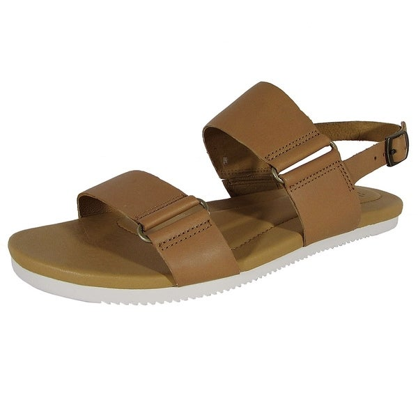246eb932c249 Shop Teva Womens Avalina Flat Leather Backstrap Sandal Shoes