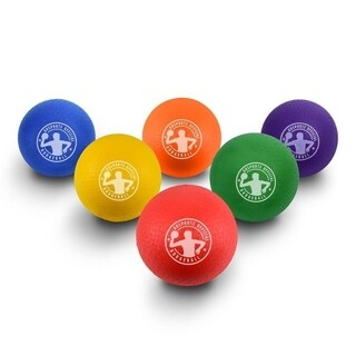 """GoSports 7"""" Inflatable No Sting Dodgeball 6 Pack Includes Ball Pump & Mesh Bag"""