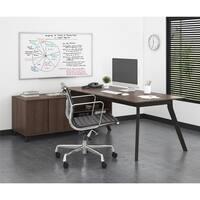 Ameriwood AX 1 Medium Brown L-Shape Desk