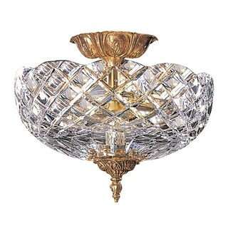 Crystorama Ceiling Mount Collection 2-light Olde Brass Semi-Flush Mount