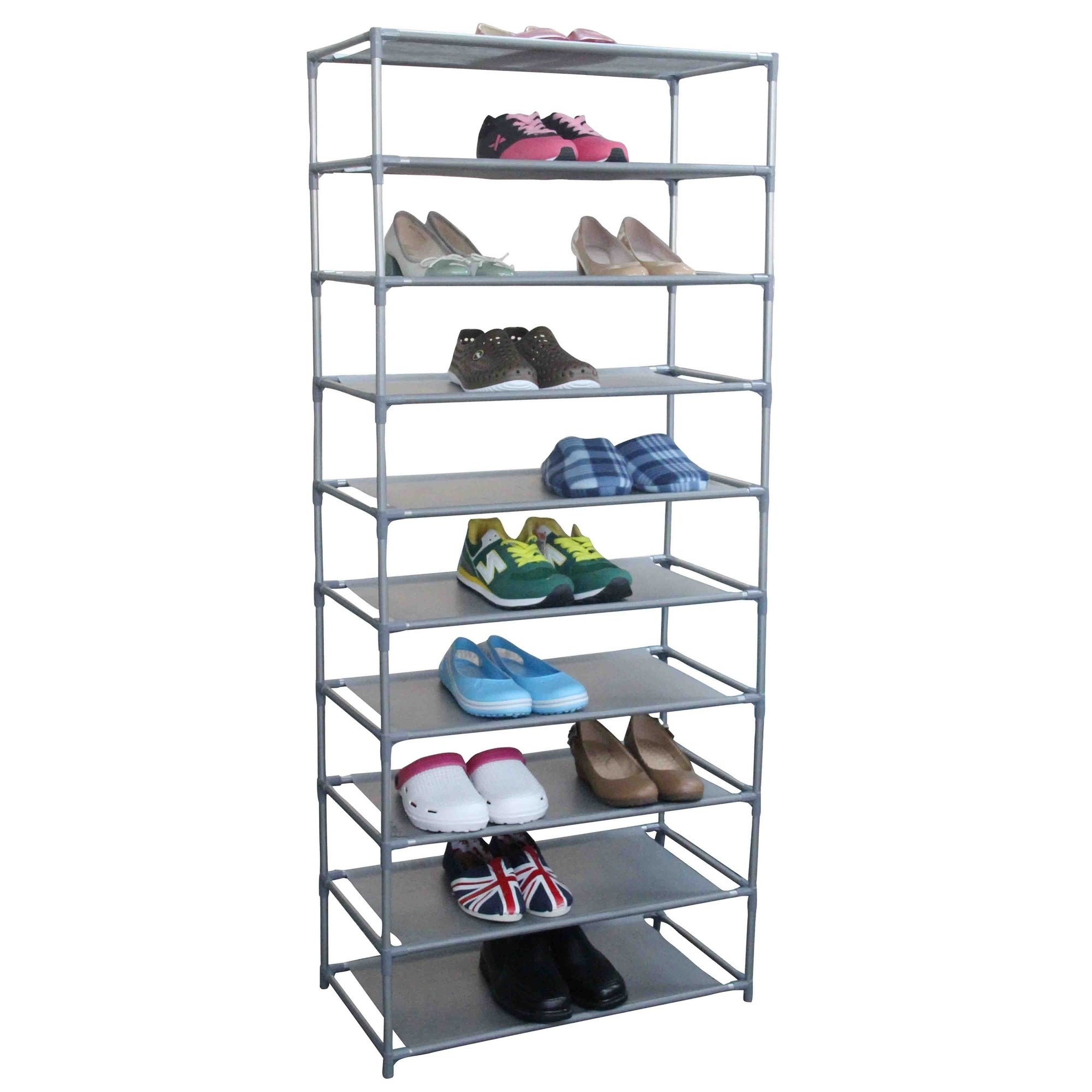 10 Tier Shoe Rack Stand Storage Organiser Home Shelf Free Standing 40 Pairs