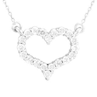 Antwerp Stunning Open Heart Diamond Necklace