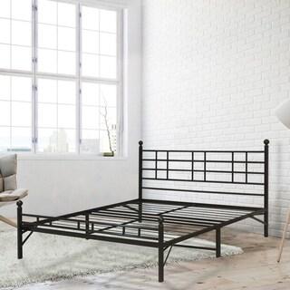 California King size Steel Platform Bed Easy setup - Crown Comfort