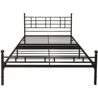 King Size Steel Platform Bed Easy Setup - Crown Comfort