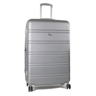 AGT Plateau 26-inch TSA Lock Hardside Spinner Expandable Suitcase (Option: Silver)