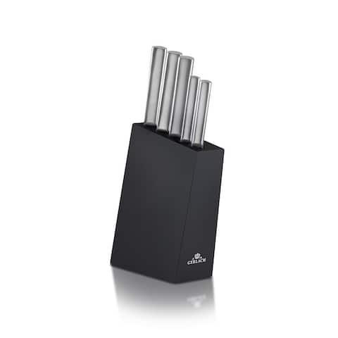 983M Ambiente Steel Knives in black block