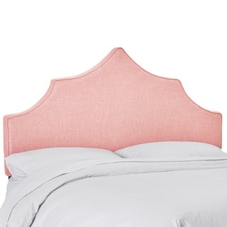 Skyline Furniture Upholstered Notched Headboard in Linen