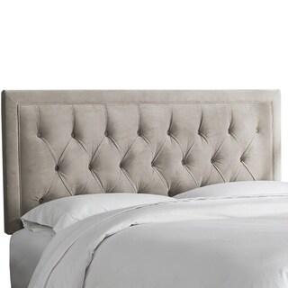 Skyline Furniture Tufted Rectangle Headboard in Velvet