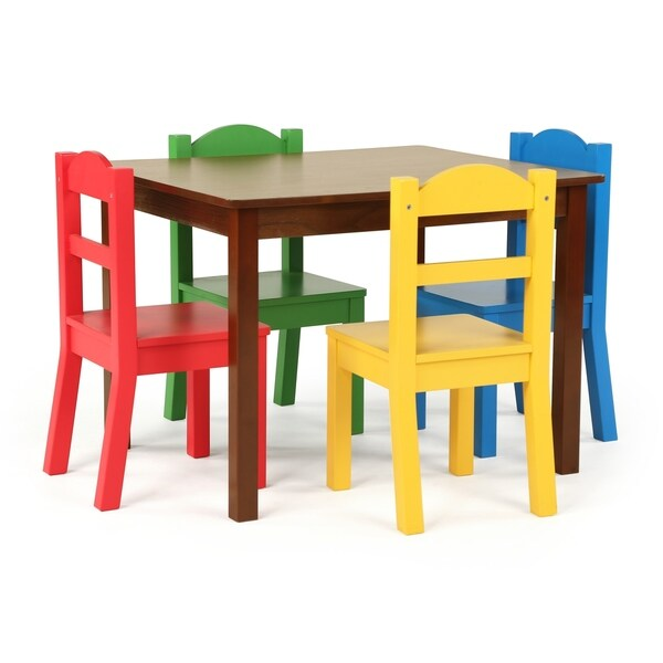 41f6192c175d1 Discover 5-Piece Wood Kids Table  amp  Chairs Set in Dark Walnut Primary