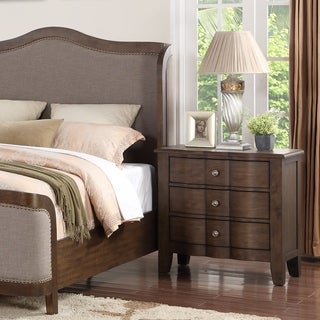 Abbyson Andre Brown 3 Drawer Nightstand