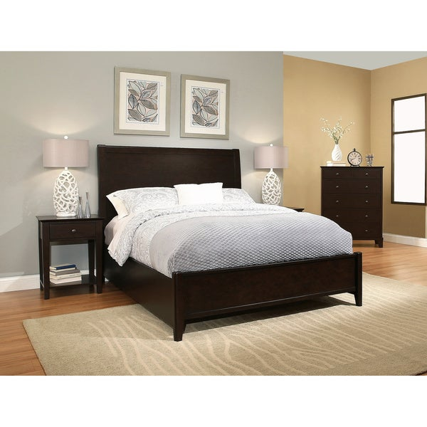 Shop Abbyson Lily Espresso Brown King Bed Free Shipping