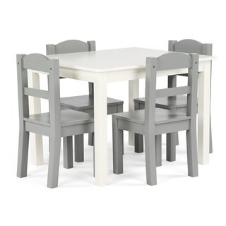 Springfield 5 Piece Wood Kids Table U0026 Chairs Set In White/Grey