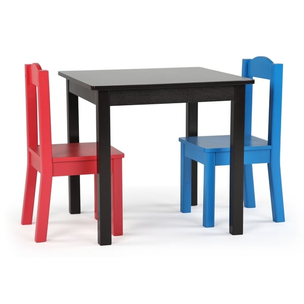 c1be67a94a8bc Shop Pierce Collection 3-Piece Wood Kids Square Table   Chairs Set ...
