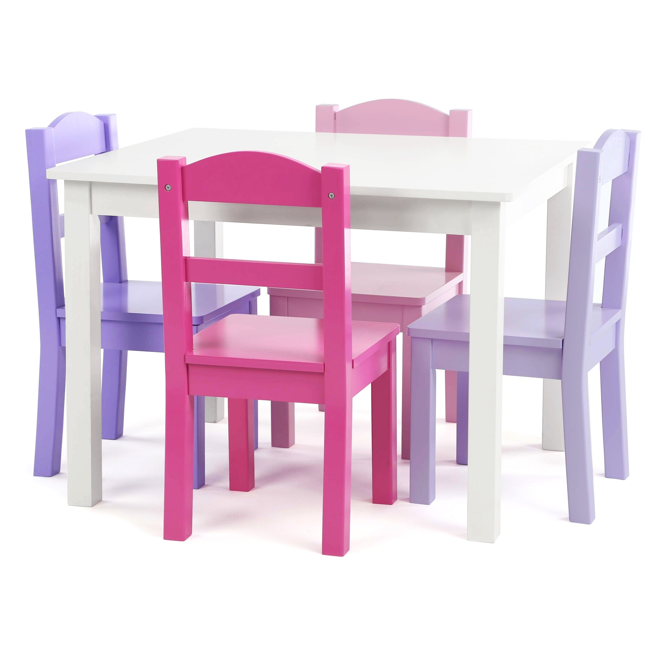 Forever 5-Piece Wood Kids Table u0026 Chairs Set in White/Purpleu0026Pink  sc 1 st  Overstock.com & Buy Kidsu0027 Table u0026 Chair Sets Online at Overstock | Our Best Kids ...