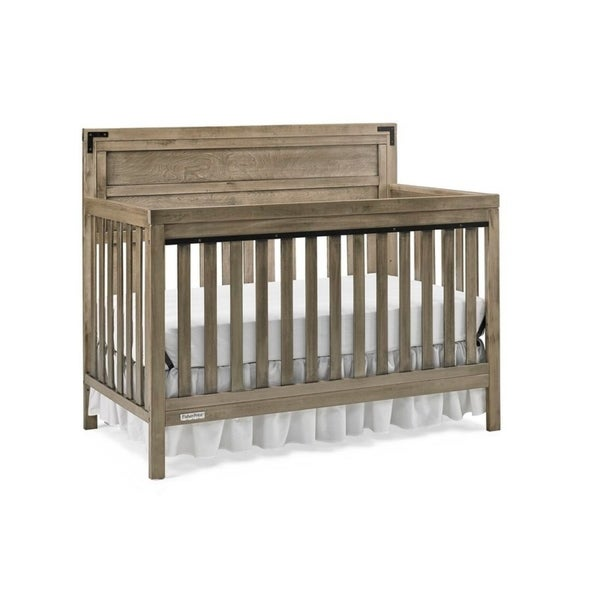 Fisher Price Paxton 4-in-1 Convertible Crib, Vintage Grey