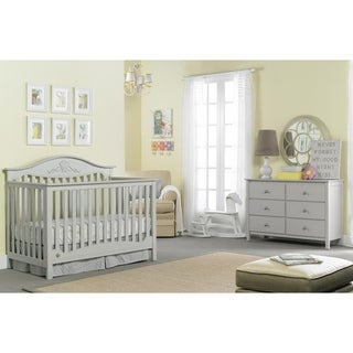 Mia Convertible Crib, Misty Grey