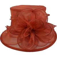 Women's Kentucky Derby Church Wedding  Organza Hat Toast