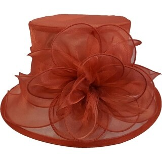 Women's Kentucky Derby Church Wedding Organza Hat Toast