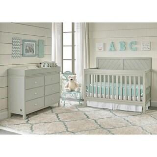 Buckland Convertible Crib, Misty Grey