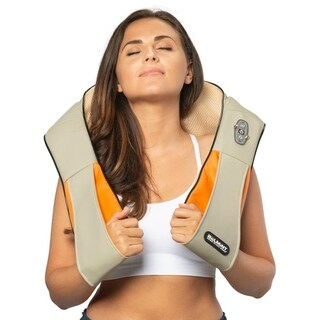 Belmint Shiatsu Kneading Neck & Back Massager with Heat Beige