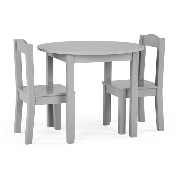 Inspire 3 Piece Wood Kids Round Table Chairs Set