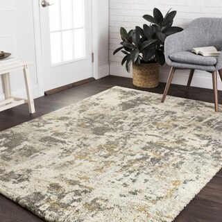 Mid-century Grey Granite Abstract Rug - 12' x 15'