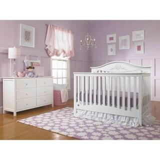 Mia Convertible Crib, Snow White