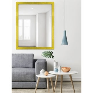 Yellow Two-toned Silver Speckled Framed Mirror