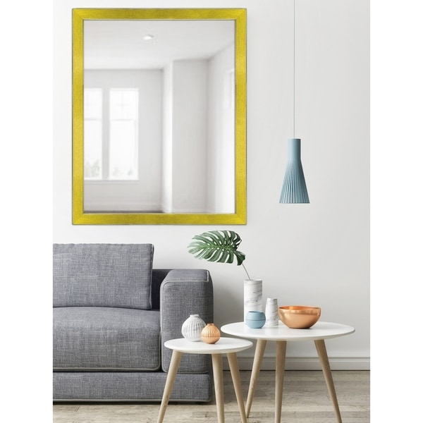 Shop Yellow Two-toned Silver Speckled Framed Mirror - Free Shipping ...