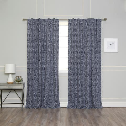 Aurora Home Diamond Confetti Room Darkening Curtain Panel Pair