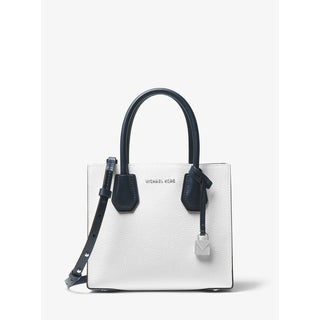 Link to MICHAEL Michael Kors  Mercer Color-Block Leather Crossbody White Multi Opt/Pilbl/Adm Similar Items in Shop By Style