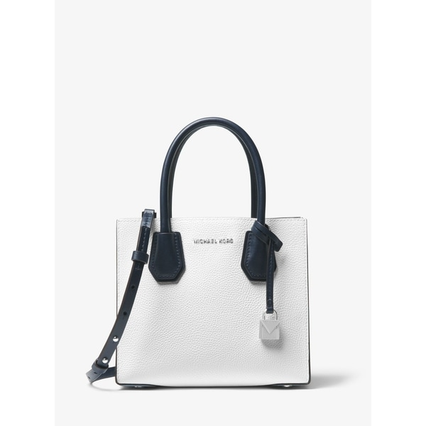 424f2455889f MICHAEL Michael Kors Mercer Color-Block Leather Crossbody White Multi  Opt/Pilbl/Adm