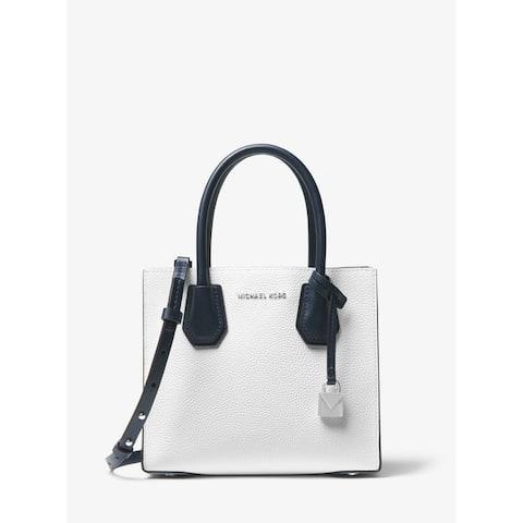MICHAEL Michael Kors Mercer Color-Block Leather Crossbody White Multi Opt/Pilbl/Adm by  New