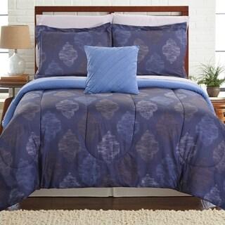 Amrapur Overseas Hugo 8-piece Printed Reversible Complete Bed Set
