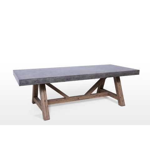 Buy Concrete Outdoor Dining Tables Online At Overstockcom Our - Concrete and metal dining table