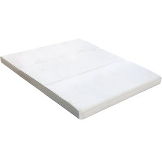 "Milliard 4"" Tri Folding Queen size Mattress with Ultra Soft Removable Cover and Non-Slip Bottom"