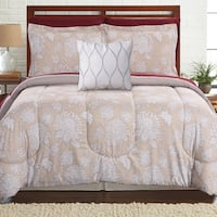 Amrapur Overseas Positano 8-piece Printed Reversible Complete Bed Set - Tan