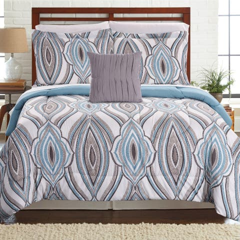 Amrapur Overseas Tribeca 8-piece Printed Reversible Complete Bed Set - Multi
