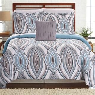 Amrapur Overseas Tribeca 8-piece Printed Reversible Complete Bed Set