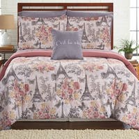 Amrapur Overseas Tuileries Garden 8-piece Printed Reversible Complete Bed Set